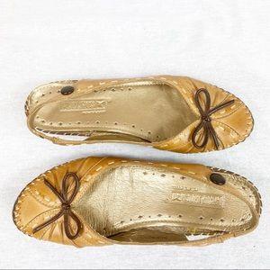 Pikolinos NWOT tan leather sling back flats size36